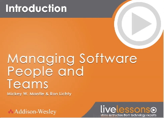 Opening screen to the intro to Live Lessons: Managing Software People and Teams